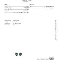 GIA Certified Alexandrite
