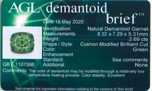 AGL demantoid